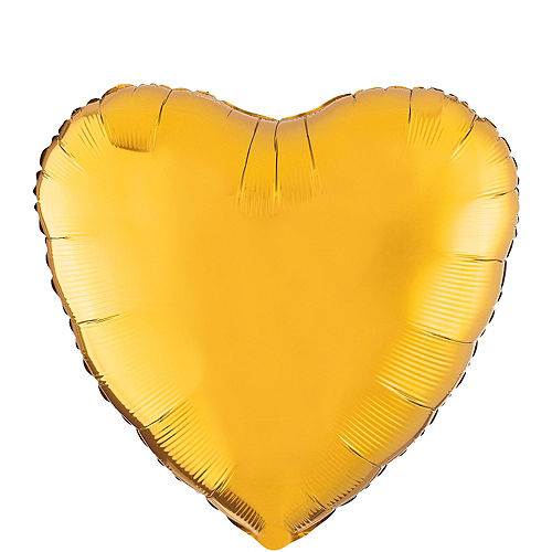17in Gold Heart Balloon Image #1