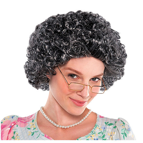 Nav Item for Curly Grandma Wig Image #1