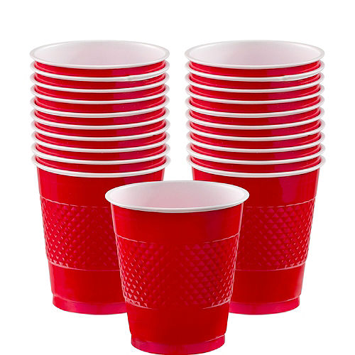 Red Plastic Cups 20ct Image #1