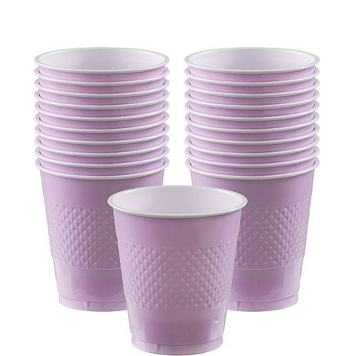 Lavender Plastic Cups 20ct Image #1