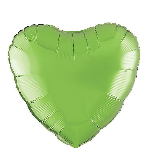 17in Kiwi Green Heart Balloon Image #1