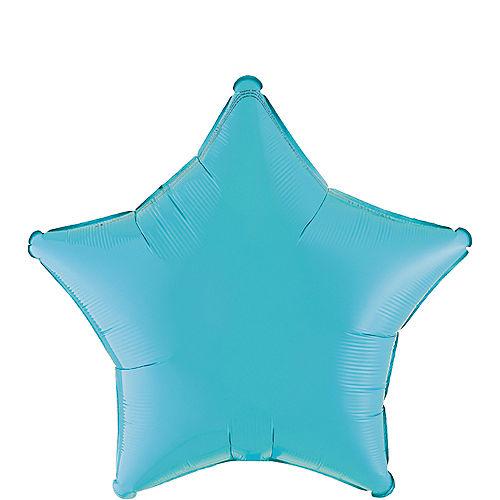 Caribbean Blue Star Balloon, 19in Image #1