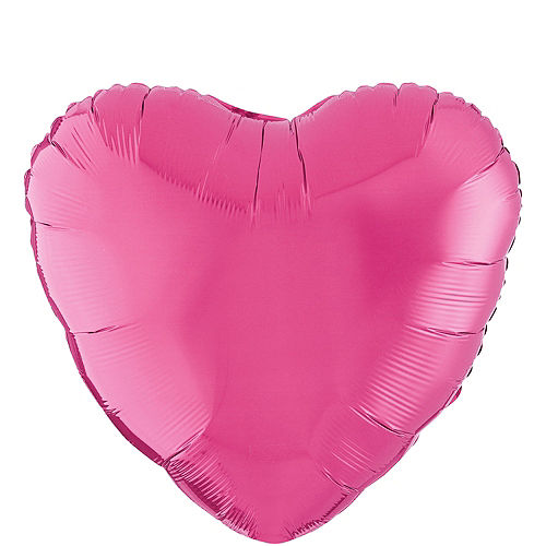 17in Bright Pink Heart Balloon Image #1