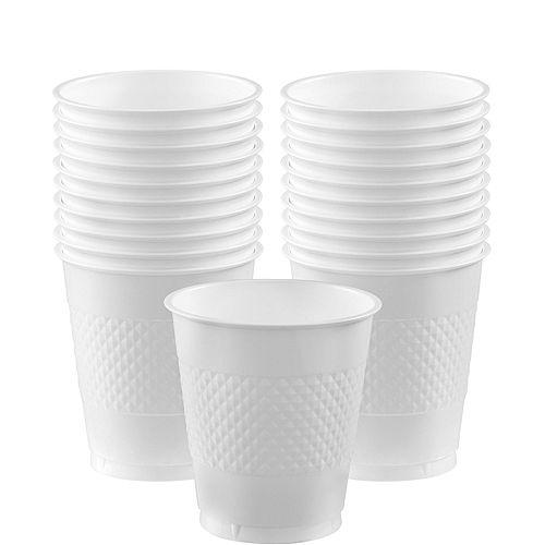 White Plastic Cups 20ct Image #1
