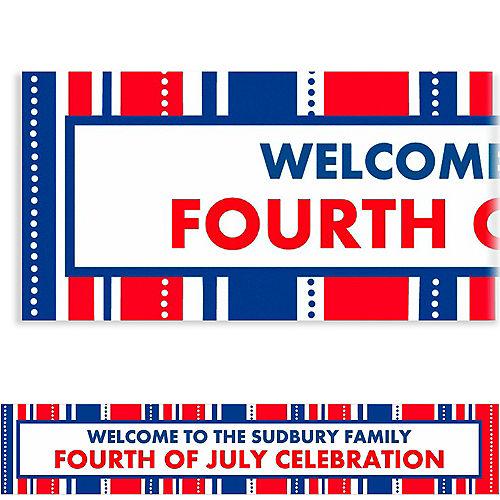 Custom American Summer Stripes Banner 6ft Image #1