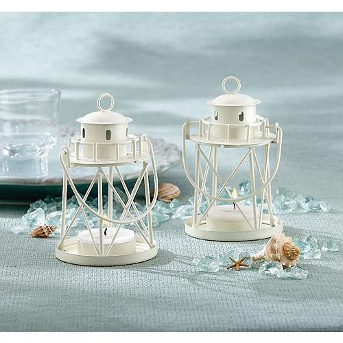 White Mini Lighthouse Tealight Candle Image #1