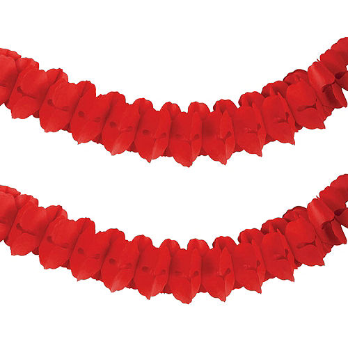Red Paper Garland Image #1
