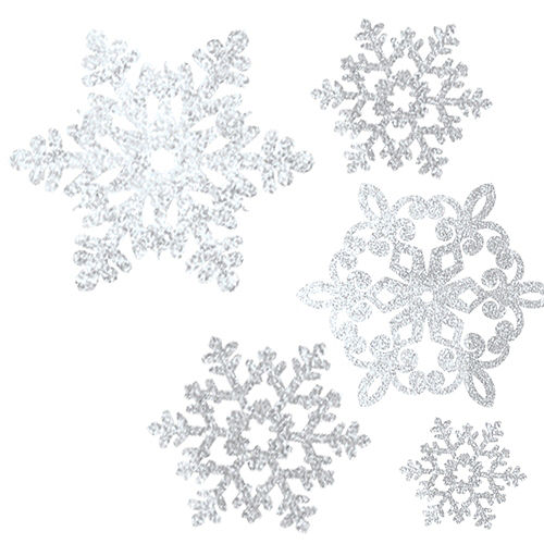 Glitter Snowflake Cutouts 20ct Image #1