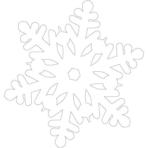 Glitter Snowflake Cutouts 20ct Image #2