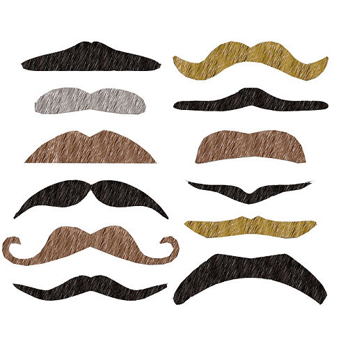 Assorted Fake Moustaches 12ct Image #1