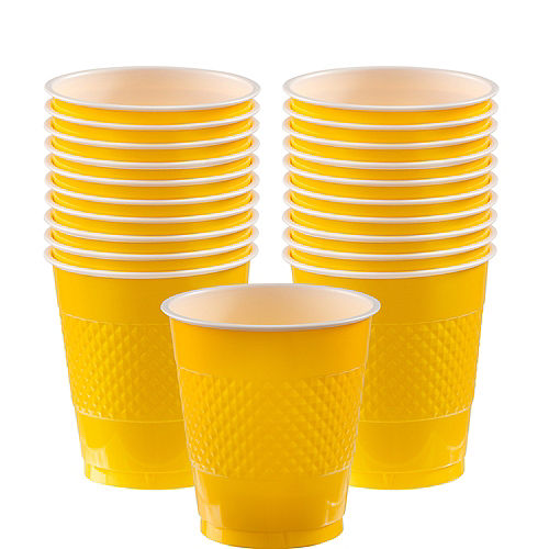 Sunshine Yellow Plastic Cups 20ct Image #1