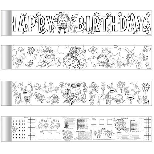 SpongeBob Mini Coloring Banners 4ct Image #1
