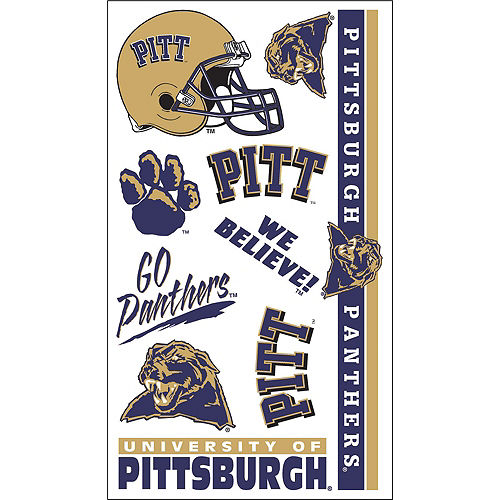 Pittsburgh Panthers Tattoos 10ct Image #1