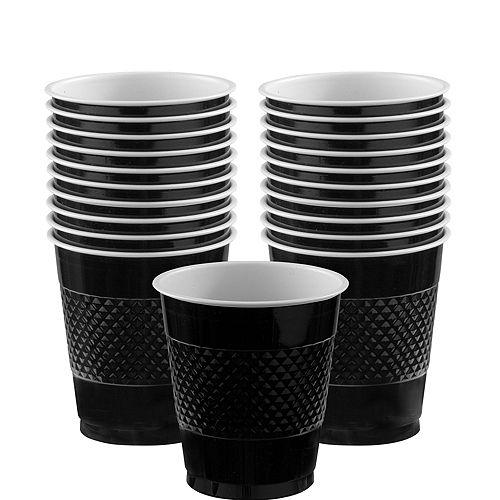 Black Plastic Cups 20ct Image #1