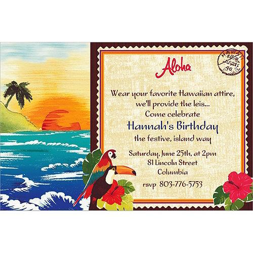 Custom Hawaiian Luau Invitations Image #1