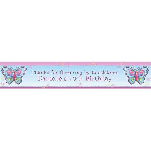 Custom Fluttering Butterfly Banner 6ft Image #1