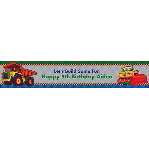 Custom Under Construction Banner 6ft Image #1