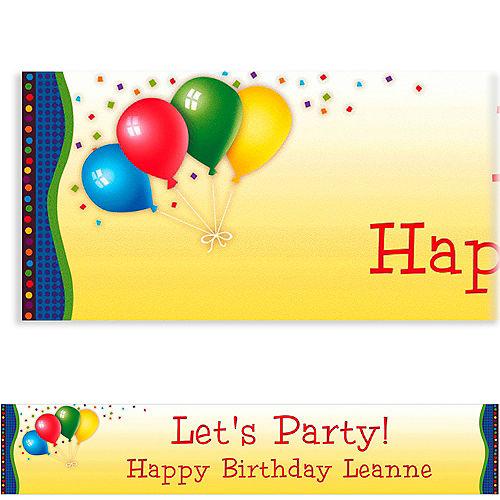 Custom Punchy Birthday Banner 6ft Image #1