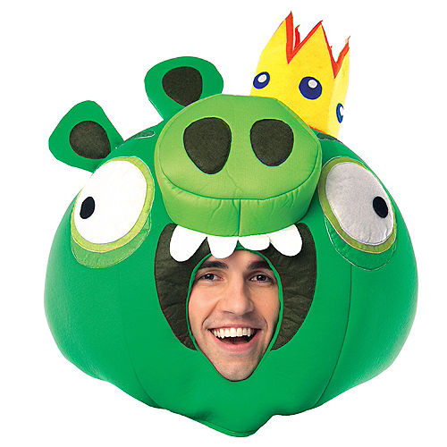 Deluxe Angry Birds King Pig Mask Image #1