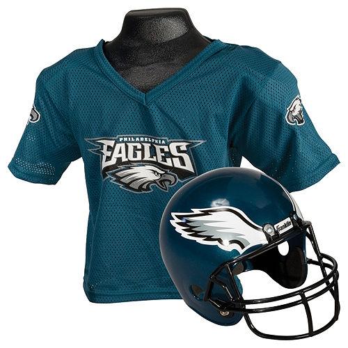 Child Philadelphia Eagles Helmet & Jersey Set Image #1