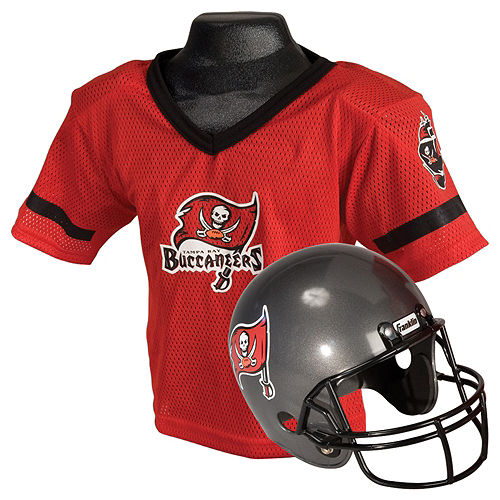 Child Tampa Bay Buccaneers Helmet & Jersey Set Image #1