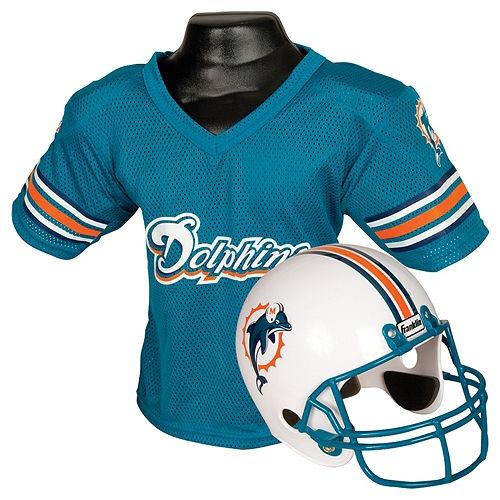Child Miami Dolphins Helmet & Jersey Set Image #1