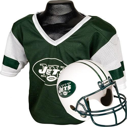 Child New York Jets Helmet & Jersey Set Image #1