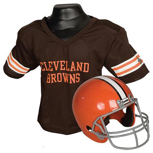 Child Cleveland Browns Helmet & Jersey Set Image #1