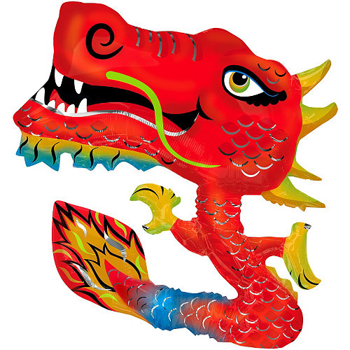 Foil Chinese New Year Dragon Balloon, 40in Image #1
