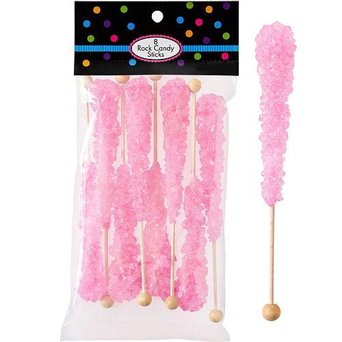 Pink Rock Candy Sticks 8pc Image #1