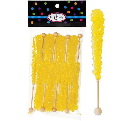 Yellow Rock Candy Sticks 8pc Image #1