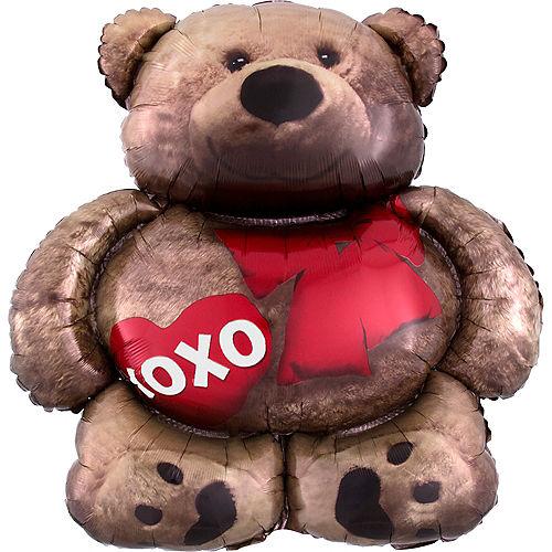 Teddy Bear Balloon - XOXO, 28in Image #1