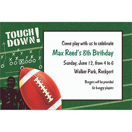 Custom Football Frenzy Invitations Image #1