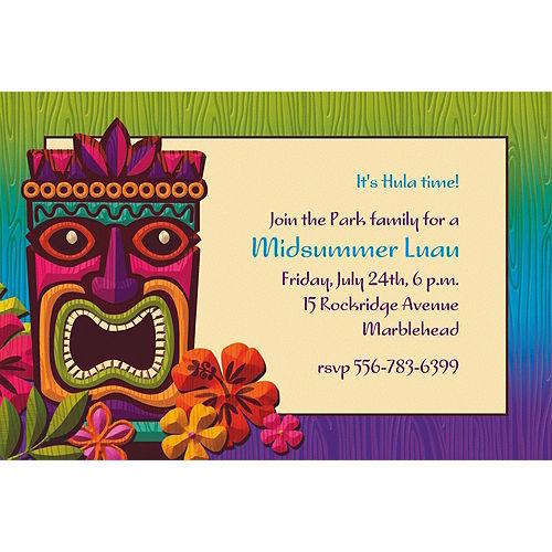 Custom Tropical Tiki Invitations Image #1