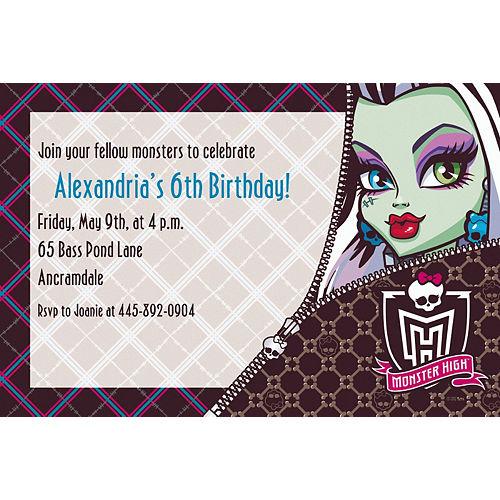 Custom Monster High Invitations Image #1