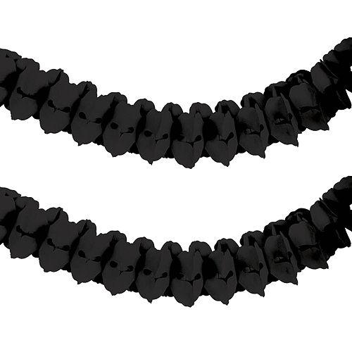 Black Paper Garland Image #1