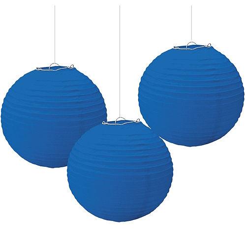 Royal Blue Paper Lanterns 3ct Image #1