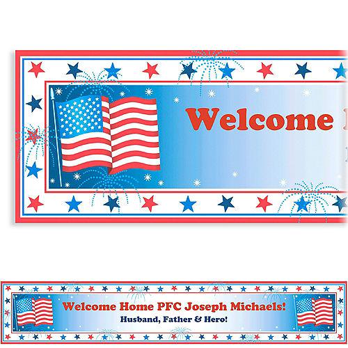 Custom Star Spangled Banner Welcome Home Banner 6ft Image #1