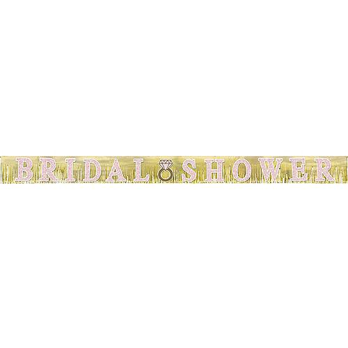 Glitter Fringe Bridal Shower Banner 10ft Image #1
