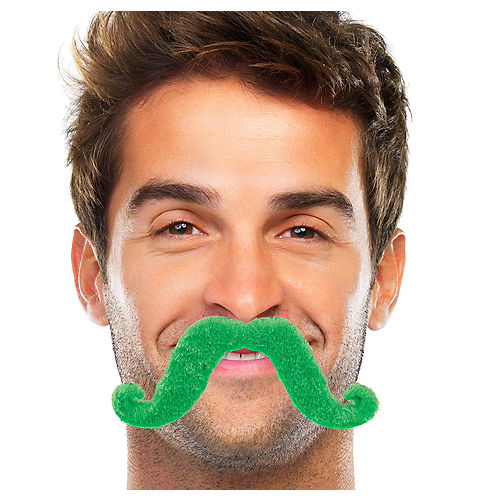 Green Handlebar Moustache Image #1