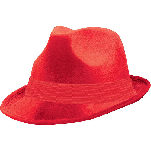 Red Suede Fedora Image #1