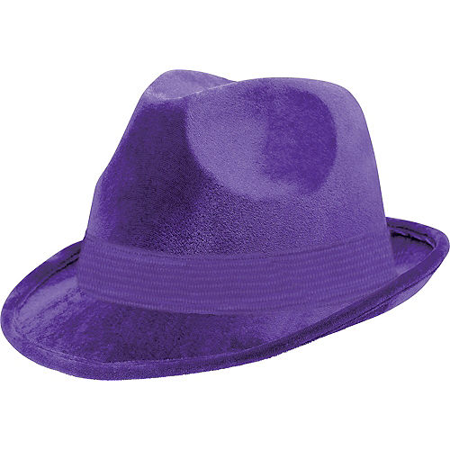 Purple Suede Fedora Image #1