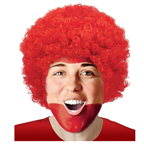 Red Curly Wig Image #1