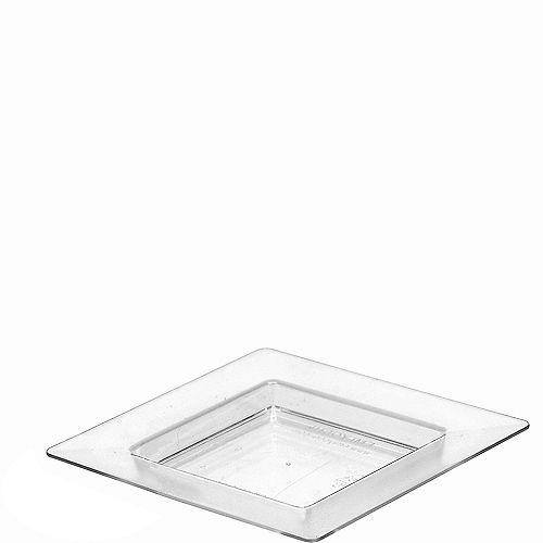 Mini CLEAR Plastic Square Appetizer Plates 40ct Image #1