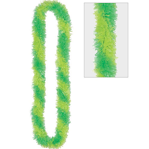 Two-Tone Green Lei Image #1