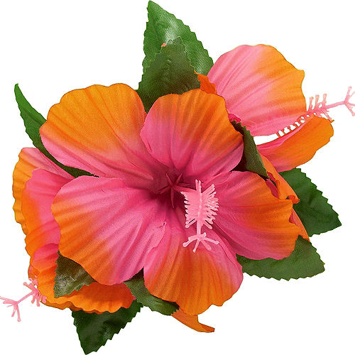 Pink Hibiscus Barrette Image #1