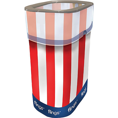 Patriotic Red, White & Blue Pop-Up Trash Bin Image #1