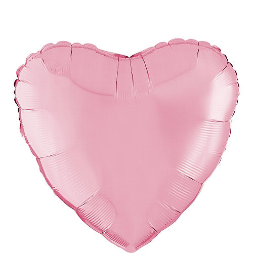 17in Pink Heart Balloon Image #1