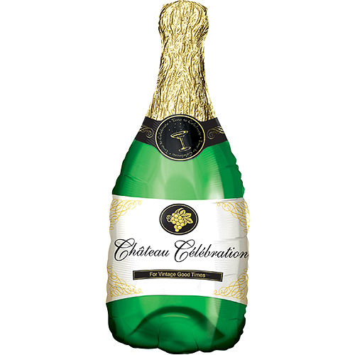 Champagne Bottle Balloon, 36in Image #1
