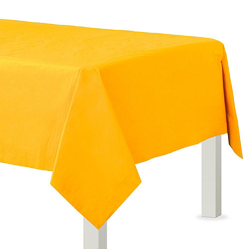 Sunshine Yellow Paper Table Cover Image #1